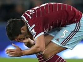West Ham boss Sam Allardyce slams James Tomkins for playacting antics as he calls on defender to show more 'maturity'